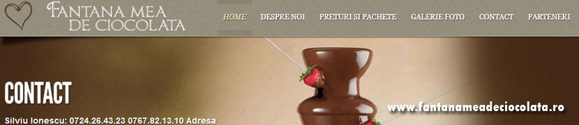 Fantana Mea de <br/> Ciocolata